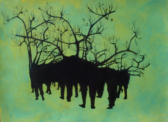 02.Aileen Hamilton_submission,Marching Forest on paper,  297 x 420 mm