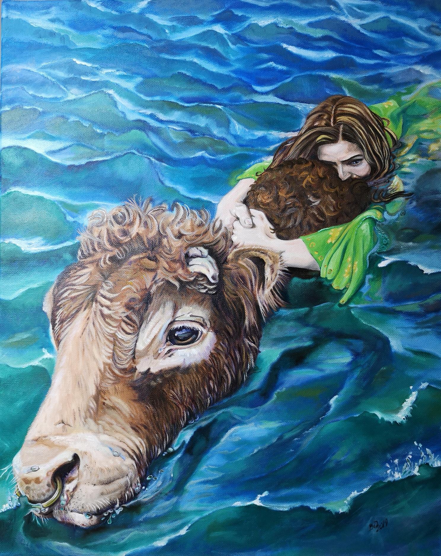 Belinda Deutinger Sionann Oil on Canvas 40 x 50 cm